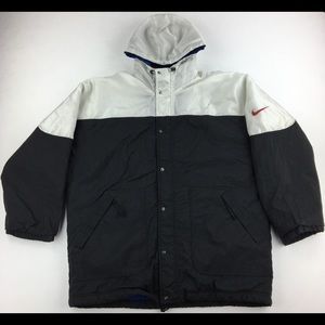 Vintage Nike Full Zip/Full Button Up Puffer Jacket